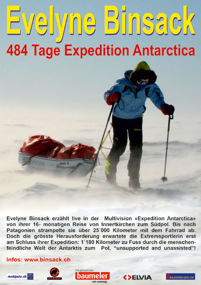 Evelyne Binsack: 484 Tage Expedition Antarctica